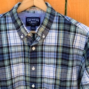 The New Ivy Brand Plaid Indian Madras Shirt L